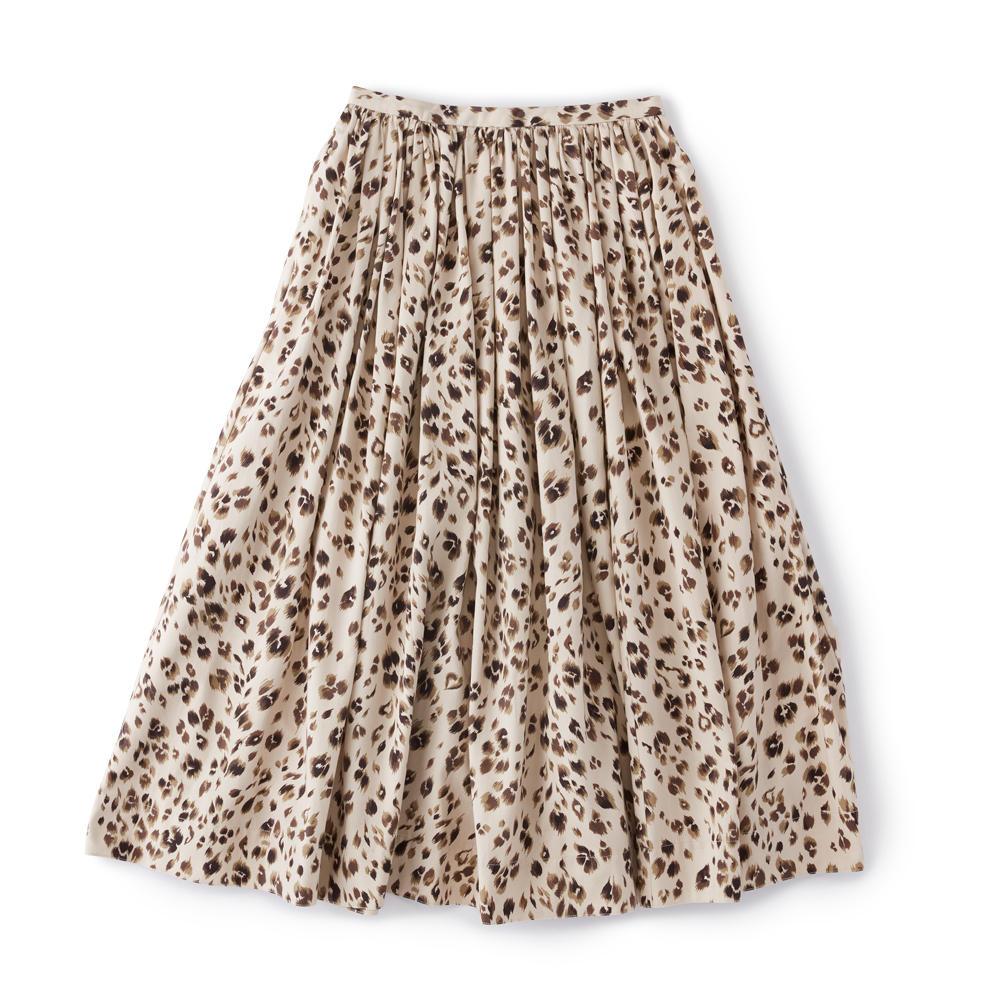SINME/レオパードプリントスカート